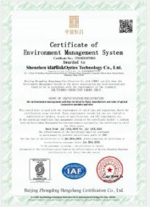 ISO14001 2015 CERTIFICATE